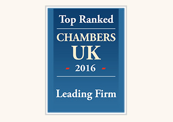 Chambers UK 2016 Leading Firm