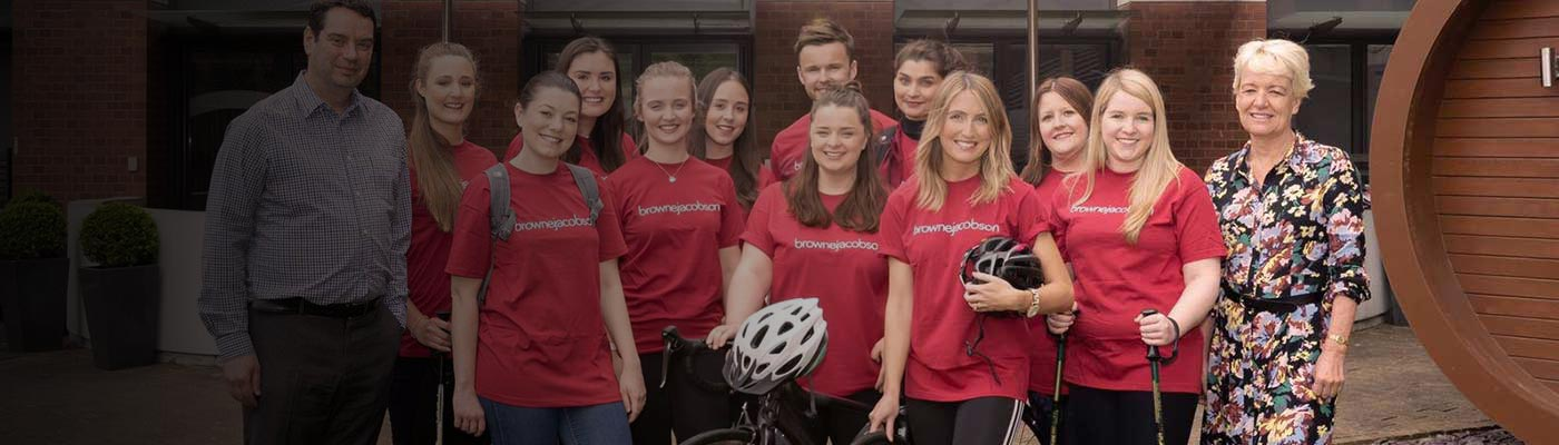Browne Jacobson trainees ride, trek and sleep for charity challenge