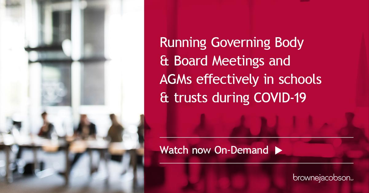 Running governing body and board meetings and AGMs effectively during COVID-19
