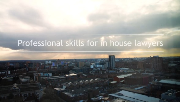 Professional skills for In house lawyers - Manchester skyline