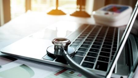 Doctor's laptop with Stethoscope