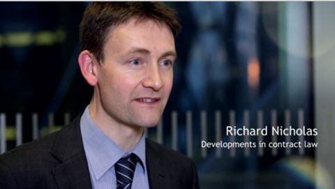 Richard Nicholas Developments in contract law - in house lawyers - Spring 2016