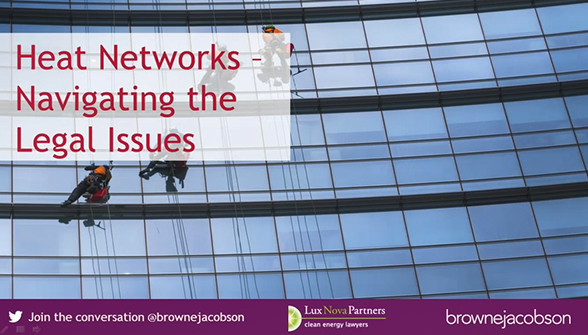 Heat Networks - navigating the legal issues